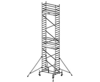 Модульная вышка строительная KRAUSE ProTec 0,7x2,0м (9,3м) (910172)