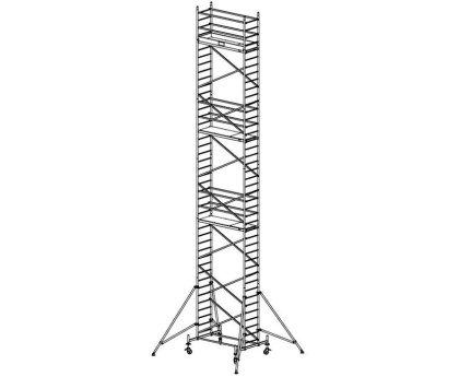 Модульная вышка строительная KRAUSE ProTec 0,7x2,0м (12,3м) (910202)